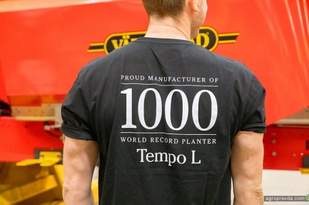 Компанія Väderstad випустила свою 1000-ну Tempo L